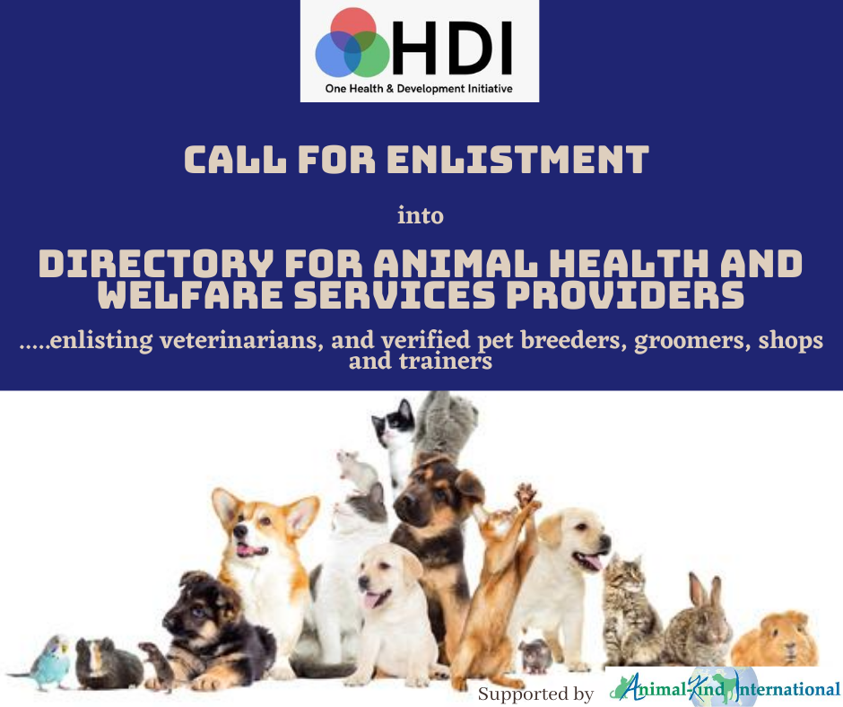 Call for Enlistment in OHDI Petcare Service Directory